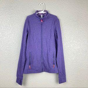 Ivivva Perfect Your Practice Jacket Purple Sz 12